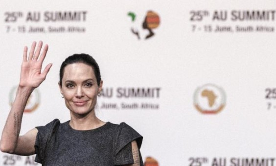 Angelina Jolie, UN ambassador at the recent AU Summit held in South Africa - June 2015